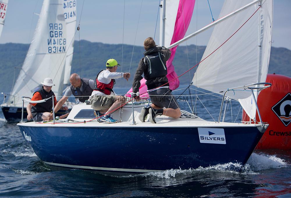 Silvers Marine Scottish Series 2017<br /> Tarbert Loch Fyne - Sailing<br /> <br /> GBR8005N, Virtuoso, Brian Wiseman/ Guy Neville, Craignish BC