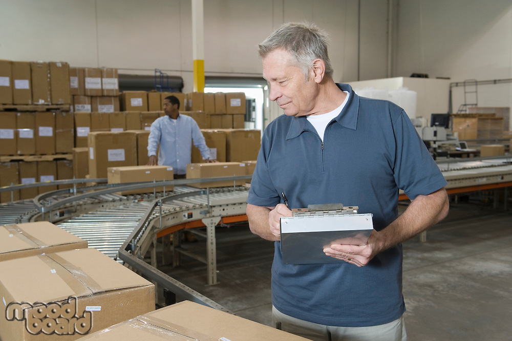 Man working in distribution warehouse