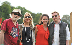 Music fans Tony Reidy with Mary Reidy, Olivia Kelly and Martin Reidy enjoying the Westport Festival of Music & Food.<br /> Pic Conor McKeown