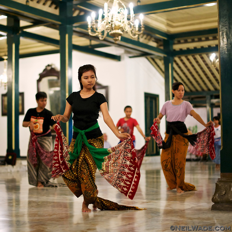 I was invited to see local dancers practicing a traditional gamelan dance in Solo, Indonesia.