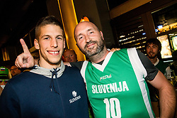 Aleksej Nikolic of Slovenia at Fans' reception of Team Slovenia after the basketball match between National Teams of Slovenia and Greece at Day 4 of the FIBA EuroBasket 2017  in Teerenpeli bar, Helsinki, Finland on September 3, 2017. Photo by Vid Ponikvar / Sportida