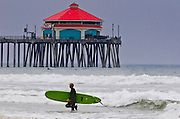 Surfing At Huntington Beach Pier