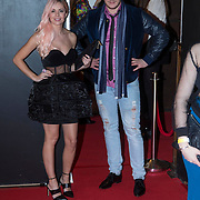 NLD/Amsterdam/20140124 - inloop E-entertainment Red Carpet party, Yvonne Colderweijer en Jasper