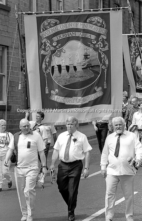 Durham Area banner. NUM Centenary Demonstration and Gala, Barnsley.