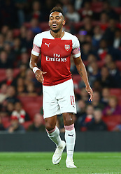 September 20, 2018 - London, England, United Kingdom - Arsenal's Pierre-Emerick Aubameyang.during UAFA Europa League Group E between Arsenal and FC Vorskla Poltava at Emirates stadium , London, England on 20 Sept 2018. (Credit Image: © Action Foto Sport/NurPhoto/ZUMA Press)
