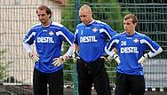 06-08-2008 Voetbal:Maikel Aerts:Bad-Schandau:Duitsland<br /> Willem II is in Oost Duitsland in Bad-Schandau voor een trainingskamp.<br /> De doelmannen van Willem II, Oscar Moens, Maikel Aerts en Bruno Appels<br /> <br /> foto: Geert van Erven