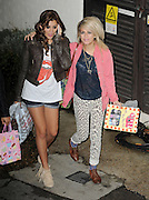 31.OCTOBER.2010. LONDON<br /> <br /> X-FACTOR FINALIST GENEVA AND SOPHIA FROM GIRL GROUP BELLE AMIE WHO GOT VOTED OFF TONIGHTS SHOW LEAVING FOUNTAIN STUDIOS IN WEMBLEY AFTER THE X-FACTOR RESULTS SHOW.<br /> <br /> BYLINE: EDBIMAGEARCHIVE.COM<br /> <br /> *THIS IMAGE IS STRICTLY FOR UK NEWSPAPERS AND MAGAZINES ONLY*<br /> *FOR WORLD WIDE SALES AND WEB USE PLEASE CONTACT EDBIMAGEARCHIVE - 0208 954 5968*