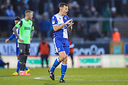 Bristol Rovers defender Tony Craig (5) urges his side on during the EFL Sky Bet League 1 match between Bristol Rovers and AFC Wimbledon at the Memorial Stadium, Bristol, England on 26 December 2019.