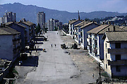 North Korean street, in Kaesong just north of Panmunjon.