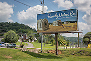 Driving toward the town of Unicoi on Erwin highway 107 in Unicoi County, Tennessee.