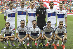 August 31, 2017 - Porto, Porto, Portugal - Ilhas Faroe line up during the FIFA World Cup Russia 2018 qualifier match between Portugal and Faroe Islands at Bessa Sec XXI Stadium on August 31, 2017 in Porto, Portugal. (Credit Image: © Dpi/NurPhoto via ZUMA Press)
