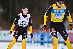HOFMANN Nicole Guide: HOFMANN Alexander, GER at the 2014 IPC Nordic Skiing World Cup Finals - Sprint