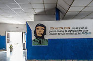 Che at the bus station in Holguin, Cuba.