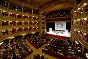 © Filippo Alfero<br /> Confronto elettorale tra Piero Fassino e Chiara Appendino in vista del ballottaggio per il Sindaco di Torino<br /> Torino, Teatro Carignano, 14/06/2016<br /> Nella foto: