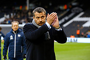 Fulham First Team Head Coach Slavisa Jokanovic during the EFL Sky Bet Championship match between Fulham and Barnsley at Craven Cottage, London, England on 23 December 2017. Photo by Andy Walter.