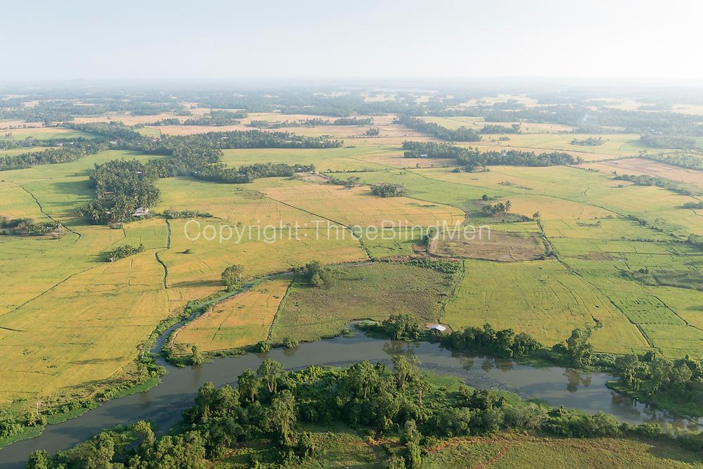 The Island from Above. Paddy fields near Hambantota.