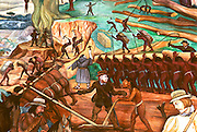 MEXICO, MEXICO CITY, MURAL Rivera's Arrival of Cortés at Veracruz