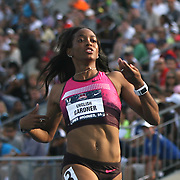 GARDNER - 13USA, Des Moines, Ia. - English Gardner won her quarterfinal heat of the 100.  Photo by David Peterson