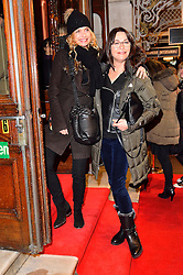 © Licensed to London News Pictures. 16/02/2016. MARYAM D'ABO and AMANDA DONOHOE arrive for the press night of Mrs Henderson Presents press night at the Noel Coward Theatre. London, UK. Photo credit: Ray Tang/LNP