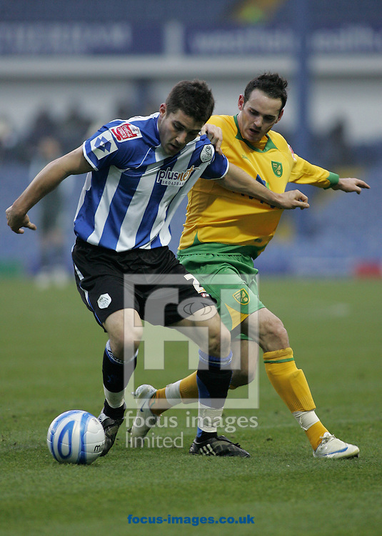 Sheffield - Sunday November 29th, 2008: Lewis Buxtonof Sheffield Wednesday and David Bell of Norwich City during the Coca Cola Championship match at Hillsborough, Sheffield. (Pic by Michael Sedgwick/Focus Images)