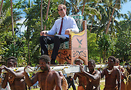 "CATHERINE, DUCHESS OF CAMBRIDGE AND PRINCE WILLIAM.seated in chairs are carried on the shoulders of local men and women on arrival at Funafuti, Tuvalu_18/09/2012.Mandatory credit photo: ©DIASIMAGES/NEWSPIX INTERNATIONAL..""NO UK USE FOR 28 DAYS"" ..(Failure to credit will incur a surcharge of 100% of reproduction fees)..                **ALL FEES PAYABLE TO: ""NEWSPIX INTERNATIONAL""**..IMMEDIATE CONFIRMATION OF USAGE REQUIRED:.DiasImages, 31a Chinnery Hill, Bishop's Stortford, ENGLAND CM23 3PS.Tel:+441279 324672  ; Fax: +441279656877.Mobile:  07775681153.e-mail: info@newspixinternational.co.uk"