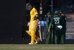 ©London News Pictures. 19/03/2011.Brad Haddin departs after a well fought 42at R.Premadasa Stadium Colombo Sri Lanka