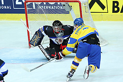 20.04.2016, Dom Sportova, Zagreb, CRO, IIHF WM, Ukraine vs Estland, Division I, Gruppe B, im Bild Yevgen Tymchenko, Daniil Seppenen // during the 2016 IIHF Ice Hockey World Championship, Division I, Group B, match between Ukraine and Estonia at the Dom Sportova in Zagreb, Croatia on 2016/04/20. EXPA Pictures © 2016, PhotoCredit: EXPA/ Pixsell/ Goran Stanzl<br /> <br /> *****ATTENTION - for AUT, SLO, SUI, SWE, ITA, FRA only*****