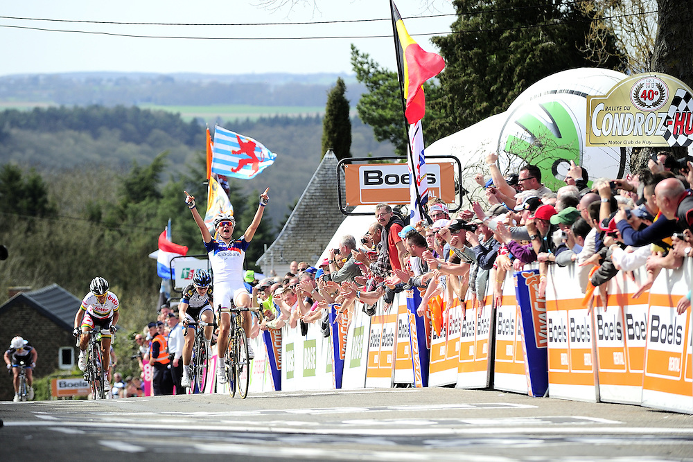 Marianne Vos (NED) lors de sa victoire de la Flèche Wallone Féminine 2013, le 17 avril 2013 à Huy.