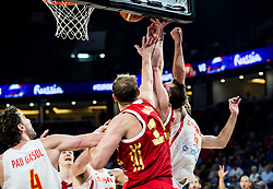 Dmitrii Kulagin of Russia vs Fernando San Emeterio of Spain during basketball match between National Teams  Spain and Russia at Day 18 in 3rd place match of the FIBA EuroBasket 2017 at Sinan Erdem Dome in Istanbul, Turkey on September 17, 2017. Photo by Vid Ponikvar / Sportida
