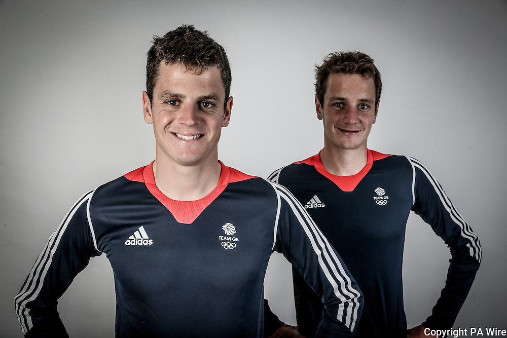 Jonathan and Alistair Brownlee during a the TeamGB Triathlon Team Announcement at the Leeds Civic Hall, Leeds. PRESS ASSOCIATION Photo. Picture date: Tuesday June 7, 2016. See PA story OLYMPICS Triathlon. Photo credit should read: PA Wire.