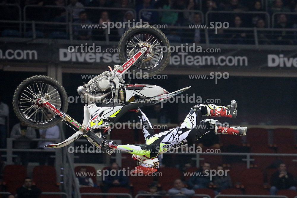 20.03.2015, Tauron Arena, Krakau, POL, Diverse night of the Jumps, FMX Weltmeisterschaft 2015, im Bild MAIKEL MELERO (HISZPANIA) // during the diverse night of the jumps FMX world championchip 2015 at the Tauron Arena in Krakau, Poland on 2015/03/20. EXPA Pictures &copy; 2015, PhotoCredit: EXPA/ Newspix/ MAREK KLIMEK/NEWSPIX.PL<br /> <br /> *****ATTENTION - for AUT, SLO, CRO, SRB, BIH, MAZ, TUR, SUI, SWE only*****