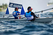 World Sailing Emerging Nations Program - Boca Chica Sailing Club, Santo Domingo 08/19/2017 - DAY 1- Frank Manuel Gonzalez Gonzalez from Venezuela (right) and Alexandre Andreux from the Dominican Republic during practice