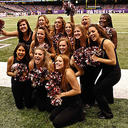 December 18, 2010; New Orleans, LA, USA; Troy Trojans cheerleaders during the second half of the 2010 New Orleans Bowl against the Ohio Bobcats at the Louisiana Superdome. Troy defeated Ohio 48-21. Mandatory Credit: Derick E. Hingle