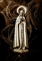 """Madonna of Fatima at the Eucharistic Miracle of Siena - Basilica of San Francesco Siena - Artistic Impression by Dino Carbetta - Caffè""…<br />