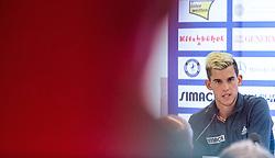 03.08.2015, Sportpark, Kitzbuehel, AUT, ATP World Tour, bet at home Cup, Pressekonferenz, im Bild Dominic Thiem (AUT) // Dominic Thiem of Austria during pressconference of bet at home Cup tennis tournament of the ATP World Tour at the Sportpark in Kitzbuehel, Austria on 2015/08/03. EXPA Pictures © 2015, PhotoCredit: EXPA/ JFK