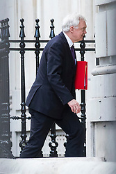© Licensed to London News Pictures. 16/01/2018. London, UK. Secretary of State for Exiting the European Union David Davis enters the Cabinet Office on Downing Street after the weekly Cabinet meeting. Photo credit: Rob Pinney/LNP