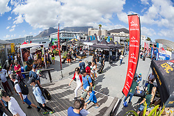 View of Registration Area during the pre race events held at the V&A Waterfront in Cape Town prior to the start of the 2017 Absa Cape Epic Mountain Bike stage race held in the Western Cape, South Africa between the 19th March and the 26th March 2017<br /> <br /> Photo by Dominic Barnardt/Cape Epic/SPORTZPICS<br /> <br /> PLEASE ENSURE THE APPROPRIATE CREDIT IS GIVEN TO THE PHOTOGRAPHER AND SPORTZPICS ALONG WITH THE ABSA CAPE EPIC<br /> <br /> ace2016