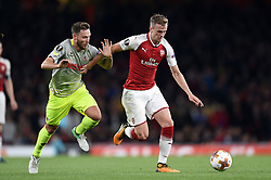 Rob Holding of Arsenal in possession - Mandatory by-line: Patrick Khachfe/JMP - 14/09/2017 - FOOTBALL - Emirates Stadium - London, England - Arsenal v Cologne - UEFA Europa League Group stage