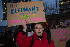 16 Jan 2018 - Protesters demonstrate against social cleansing at the Elephant & Castle, South London