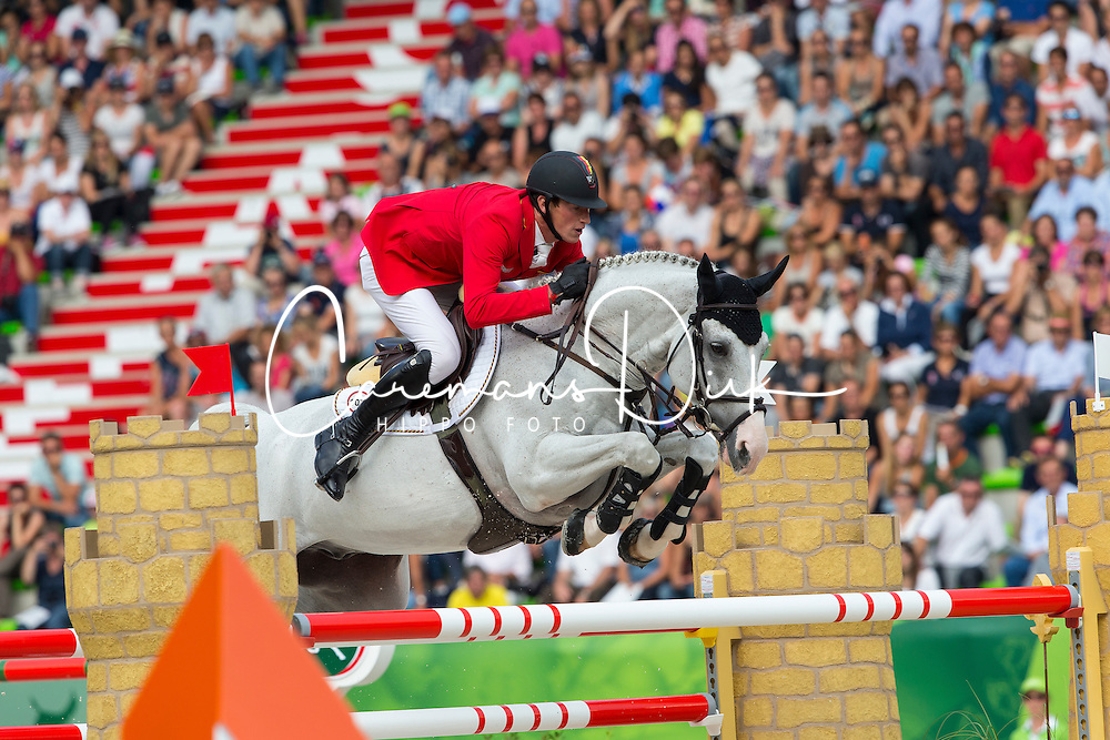 Daniel Deusser, (GER), Cornet D Amour - World Champions, - Second Round Team Competition - Alltech FEI World Equestrian Games&trade; 2014 - Normandy, France.<br /> &copy; Hippo Foto Team - Leanjo De Koster<br /> 25/06/14