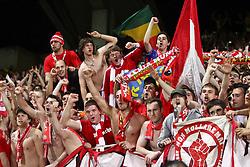 27-04-2010 VOETBAL: OLYMPIQUE LYON - BAYERN MUNCHEN: LYON<br /> Halve finale Champions League / Bayern Muchen plaatst zich voor de finale door Lyon met 3-0 te verslaan - Bayern fans in extase<br /> ©2010-FRH-nph / Straubmeier