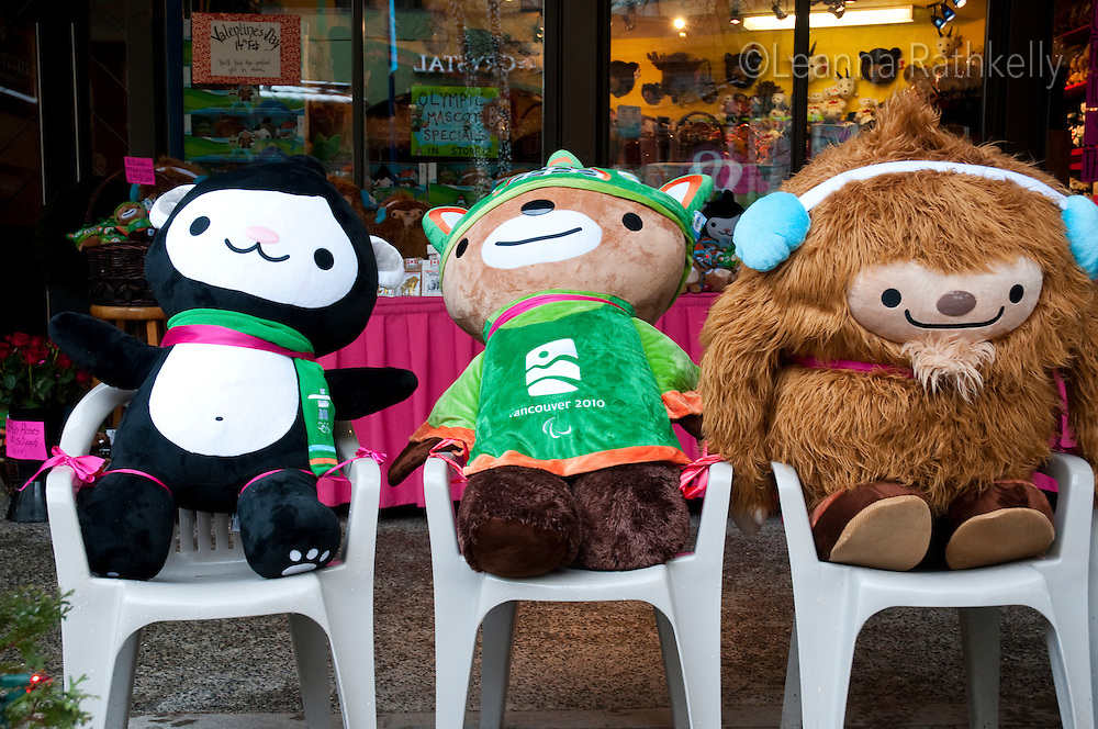 Quatchi, a sasquatch, Miga, a sea bear and Sumi, animal spirit, are the official mascots of the 2010 Olympic Winter Games.