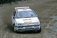 Mobil 1/RAC British Rally Championship 1997. RSAC Scottish Rally. Jorgen Jonasson / Nicklas Jonasson. SBG Sport. VW Golf GTi Kit Car. World Copyright: Peter Taylor/PSP. Copy of publication required for printed pictures. Every used picture is fee-liable..