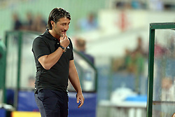 21.08.2013, Nationalstadion, Sofia, BUL, UEFA CL Play off, PFC Ludogorez Razgrad vs FC Basel, im Bild Trainer Murat Yakin (Basel) // during the UEFA Champions League, Play off first leg match between PFC Ludogorez Razgrad and FC Basel at Nationalstadium in Sofia, Bulgaria on 2013/08/21. EXPA Pictures © 2013, PhotoCredit: EXPA/ Freshfocus/ Andy Mueller<br /> <br /> ***** ATTENTION - for AUT, SLO, CRO, SRB, BIH only *****