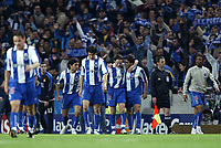 FOOTBALL - CHAMPIONS LEAGUE CUP 2003/04 - 1/4 FINAL 1ST LEG - 23/03/2004 - FC PORTO v OLYMPIQUE LYONNAIS - PORTO JOY AT THE END OF THE GAME - PHOTO JEAN MARIE HERVIO / DIGITALSPORT