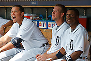 August 6, 2009:  #9 Carlos Guillen, #24 Miguel Cabrera, #34 Clete Thomas and #28 Curtis Granderson of the  Detroit Tigers during the MLB game between Baltimore Orioles and Detroit Tigers at Comerica Park, Detroit, Michigan. Tigers defeated the Oriole 7-3.