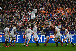 February 2, 2020, Saint Denis, Seine Saint Denis, France: The Lock of England Team MARO ITOJE in action during the Guinness Six Nations Rugby tournament between France and  England at the Stade de France - St Denis - France.. France won 24-17 (Credit Image: © Pierre Stevenin/ZUMA Wire)