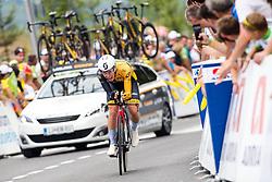 Tadej Pogacar of Ljubljana Gusto Xaurum during 5th Time Trial Stage of 25th Tour de Slovenie 2018 cycling race between Trebnje and Novo mesto (25,5 km), on June 17, 2018 in  Slovenia. Photo by Matic Klansek Velej / Sportida