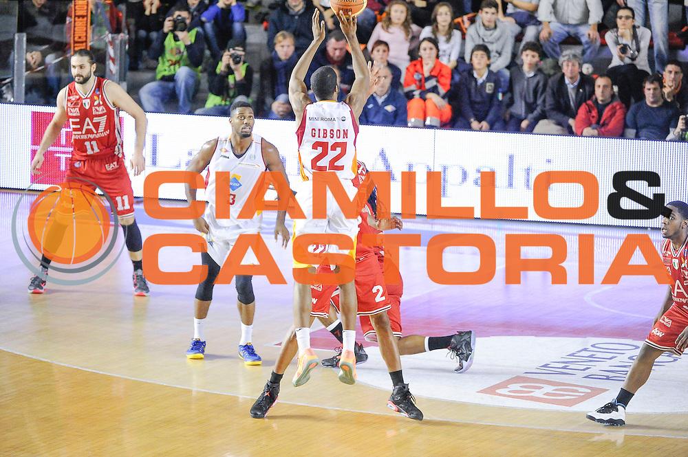 DESCRIZIONE : Roma Lega A 2014-15 <br /> Acea Roma EA7 Milano<br /> GIOCATORE : Gibson Kyle<br /> CATEGORIA : Tiro Tre Punti  Controcampo<br /> SQUADRA : Acea Roma<br /> EVENTO : Lega A 2014-15 <br /> GARA : Acea Roma EA7 Milano<br /> DATA : 21/12/2014<br /> SPORT : Pallacanestro<br /> AUTORE : Agenzia Ciamillo-Castoria/giuliociamillo<br /> Galleria : Lega Basket A 2014-2015<br /> Fotonotizia : <br /> Predefinita :