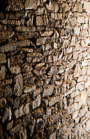 Ticino, Southern Switzerland. Dry-stone wall texture.